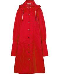 Marni - Oversized Hooded Shell Raincoat - Lyst