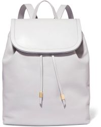 Iris & Ink - Suede-trimmed Leather Backpack - Lyst