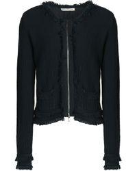 Autumn Cashmere - Frayed Cotton-bouclé Jacket Dark Green - Lyst