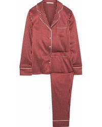 Stella McCartney - Poppy Snoozing Polka-dot Stretch-silk Satin Pyjama Set - Lyst