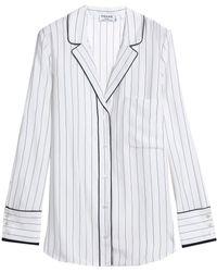 FRAME - Pinstriped Silk Shirt - Lyst
