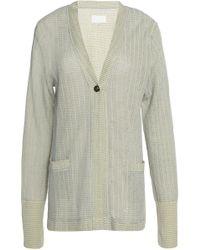 Maison Margiela - Cotton And Linen-blend Cardigan - Lyst
