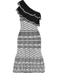 Rebecca Vallance - Chiara One-shoulder Ruffled Pointelle-knit Dress - Lyst