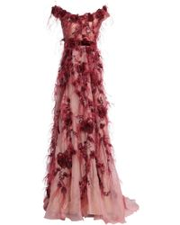 Marchesa - Silk Gown Blush - Lyst