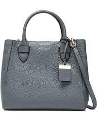 Kate Spade - Woman Textured-leather Tote Gray - Lyst