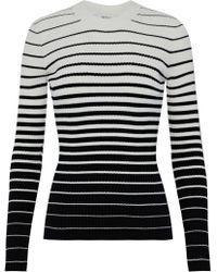 MILLY - Striped Dégradé Ribbed-knit Sweater - Lyst