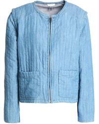 Soft Joie - Cotton-blend Chambray Jacket - Lyst