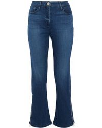 3x1 - Midway Zip-detailed High-rise Kick-flare Jeans Mid Denim - Lyst