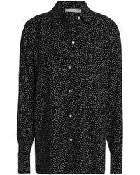 Vince - Printed Stretch-silk Crepe Shirt - Lyst