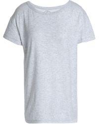 Petit Bateau - Mélange Cotton-jersey T-shirt Light Grey - Lyst