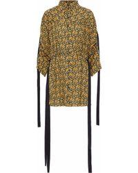 Magda Butrym - Goteborg Draped Floral-print Silk Crepe De Chine Mini Dress - Lyst
