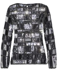 Raoul - Bead And Sequin-embellished Mesh Top - Lyst