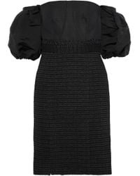 Jonathan Simkhai - Off-the-shoulder Silk-faille And Cotton-blend Tweed Dress - Lyst