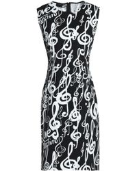 Love Moschino Woman Printed Ruffle-trimmed Crepe Mini Dress Black Size 42 Love Moschino DqCS7F