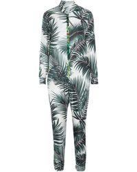 Max Mara - Ariella Printed Silk Jumpsuit - Lyst