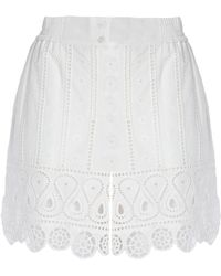 Opening Ceremony - Broderie Anglaise Cotton Mini Skirt - Lyst