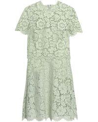 Valentino - Layered Cotton-blend Corded Lace Mini Dress - Lyst