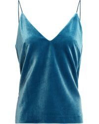 Nicholas - Velvet Camisole Light Blue - Lyst