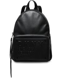 DKNY - Faux Leather Backpack Black - Lyst