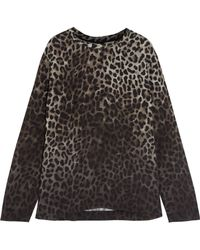 Tom Ford - Leopard-print Crepe Top - Lyst