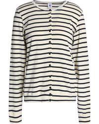 Petit Bateau - Striped Cotton-jersey Cardigan - Lyst