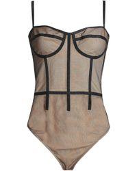 Cushnie et Ochs - Grosgrain-trimmed Tulle Bodysuit - Lyst