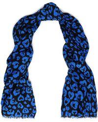 COACH - Leopard-print Cotton And Silk-blend Scarf - Lyst