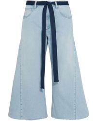 Sonia Rykiel - Belted Cropped Wide-leg Jeans - Lyst
