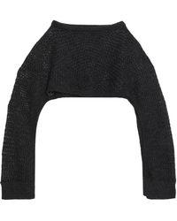 Chalayan - Open-knit Poncho - Lyst