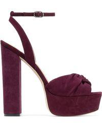 Rachel Zoe - Claudette Twisted Suede Platform Sandals - Lyst