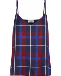 L'Agence - Jane Checked Twill Camisole - Lyst