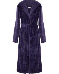 DKNY - Fleece Robe - Lyst