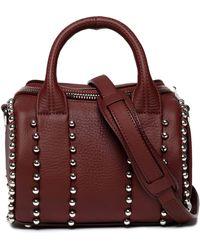 Alexander Wang - Rockie Studded Textured-leather Shoulder Bag - Lyst