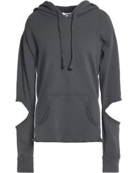 LNA - Cutout French Cotton-terry Hoodie - Lyst