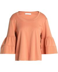 See By Chloé - Fluted Cotton-poplin And Jersey Top - Lyst