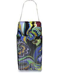 Emilio Pucci - Fringed Printed Canvas Shoulder Bag - Lyst