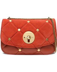 See By Chloé - Lois Studded Quilted Suede And Leather Shoulder Bag - Lyst