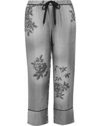Marni - Printed Crepe De Chine Wide-leg Trousers - Lyst