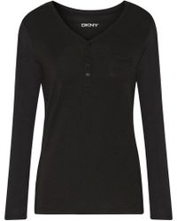 DKNY - Stretch-modal Pyjama Top - Lyst