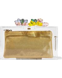 Charlotte Olympia - Summertime Pandora Crystal-embellished Perspex Box Clutch - Lyst