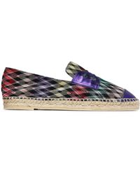 Missoni - Metallic Leather-trimmed Crochet-knit Espadrille Trainers - Lyst