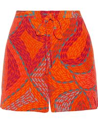Issa - Printed Silk Crepe De Chine Shorts - Lyst