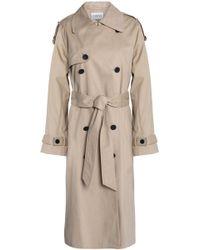 Claudie Pierlot - Woman Cotton-gabardine Trench Coat Beige Size 36 - Lyst