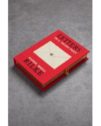 Olympia Le-Tan - Letters To A Young Poet Appliquéd Canvas Clutch Red - Lyst