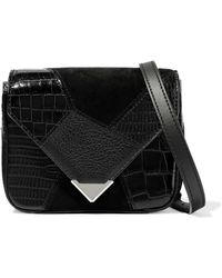 824756e2717e Lyst - Marc Jacobs Star Patchwork Black Leather Small Saddle Bag in ...