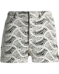 IRO - Embroidered Gauze Shorts - Lyst