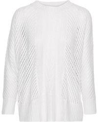 Enza Costa - Open-knit Sweater - Lyst