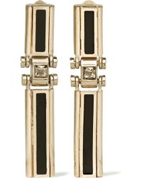 Lanvin - Gold-tone, Swarovski Crystal And Resin Clip Earrings - Lyst