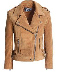 OAK - Suede Biker Jacket - Lyst