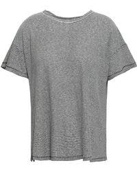 Rag & Bone - Striped Linen And Modal-blend T-shirt Black - Lyst